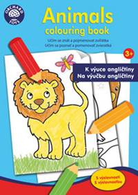 Kniha Animals colouring book...