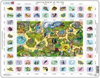Kniha Learning english at the zoo - Puzzle Larsen (70 pieces)